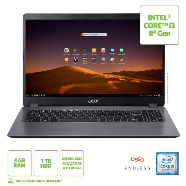 "Notebook acer aspire 3 15,6"" a315-54k-310a intel core i3 4gb"