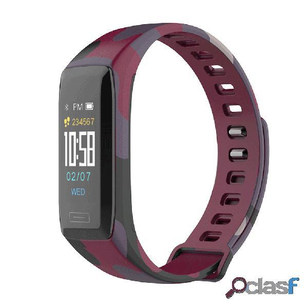 Esporte estilo s camouflage hr monitor de oxigênio de pressão sanguínea esporte de dados usb carga relógio inteligente