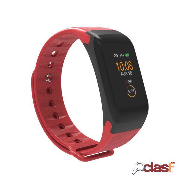 Estilo simples coração taxa de monitor de pressão arterial monitor de atividade relógio inteligente