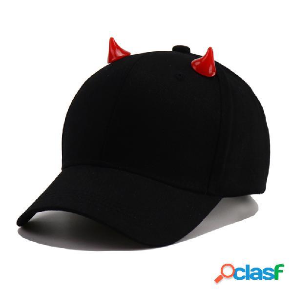 Bonés de beisebol das mulheres dos homens adultos chapéu festa de halloween do mal chapéus boné ajustável de snapback