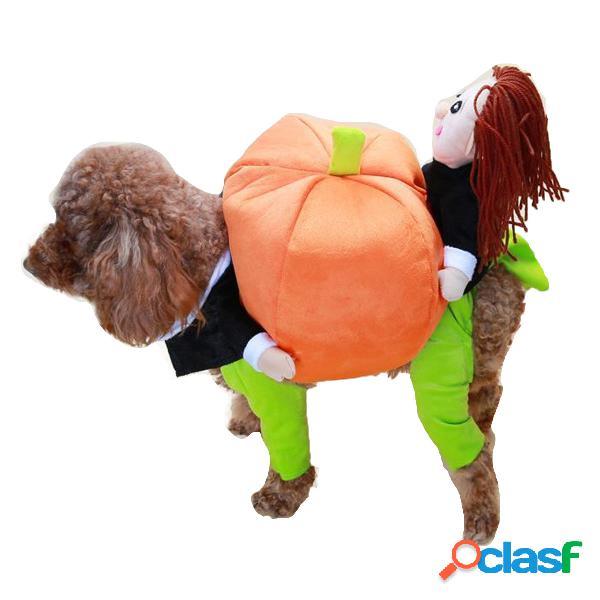 Pet engraçado cachorro abóboras em movimento pet party vestuário vestuário roupas de inverno