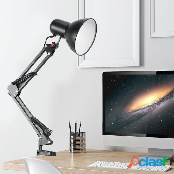 Grande braço de balanço ajustável elaboração de estúdio de escritório braçadeira lâmpada de mesa candeeiros de mesa luz ajustável