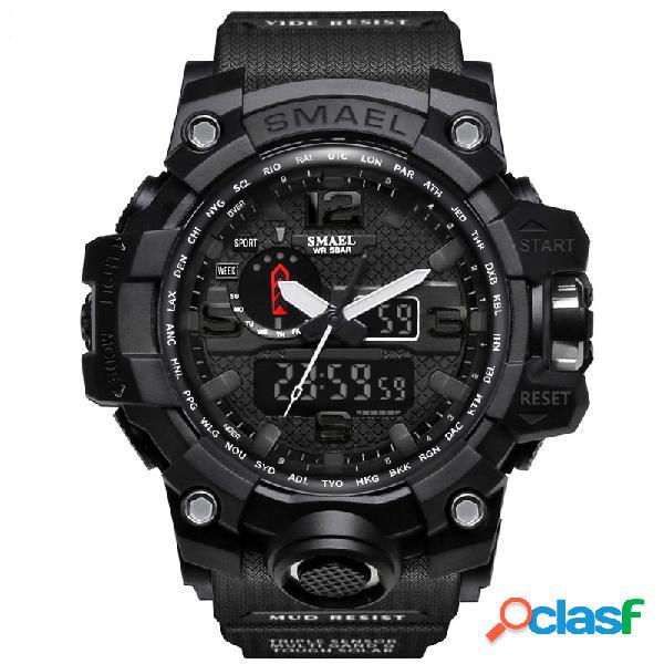Esporte relógio analógico digital relógio de cor dupla faixa de cor dupla à prova d 'água relógio de quartzo
