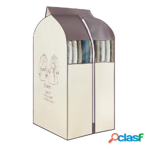 3 cores de tecido não tecido pendurado roupas de armazenamento bolsa protetor de roupas anti-sujeira