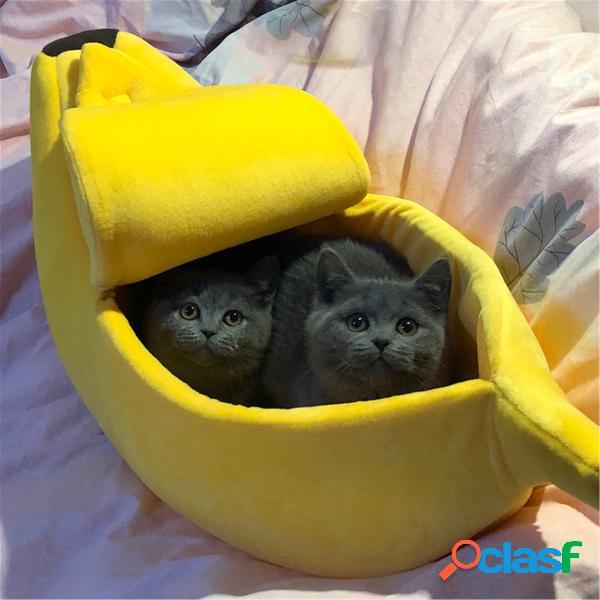 Pet cachorro cama de gato tapete de casa quente canil durável cachorrogy soft almofada de cachorro cesta de forma de banana