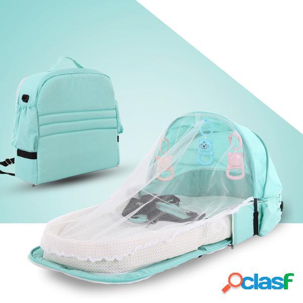 Cama de bebê portátil viagem multifuncional cama de isolamento anti-mosquito cama dobrável para bebê cama destacável cama do meio