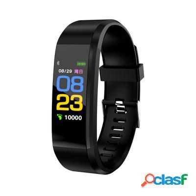 Pressão arterial coração monitor de taxa aptidão tracker bluetooth relógio de pulseira inteligente de esporte