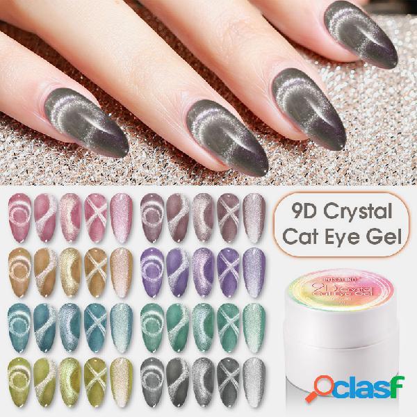 5ml 9d crystal cat eye gel unhas art design verniz gel de imersão uv led gel polonês curado por lâmpada unhas