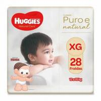 APP] Kit com 4 Fraldas Huggies Natural Care XG