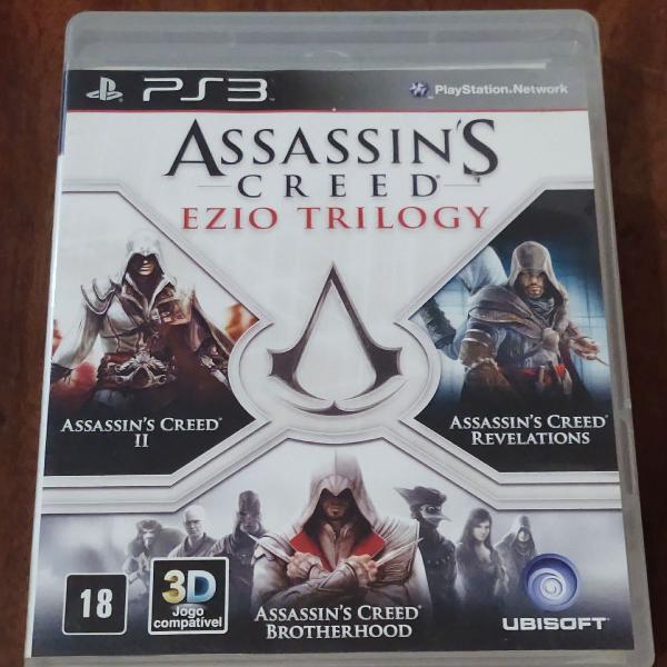 Assassin's creed ezio trilogy (3 jogos) de ps3