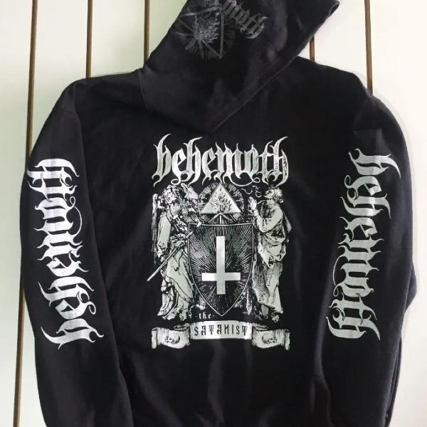 Blusa moletom behemoth the satanist. tam: gg