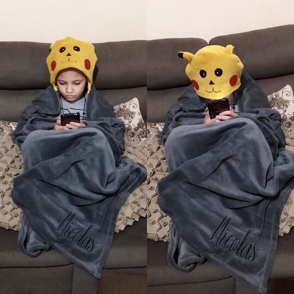Cobertor capuz g
