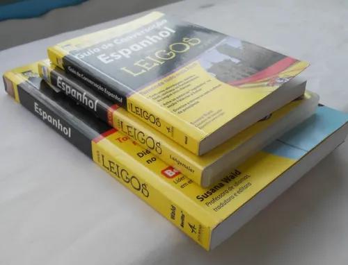 Curso de espanhol para leigos com 2 livros e 3 cds