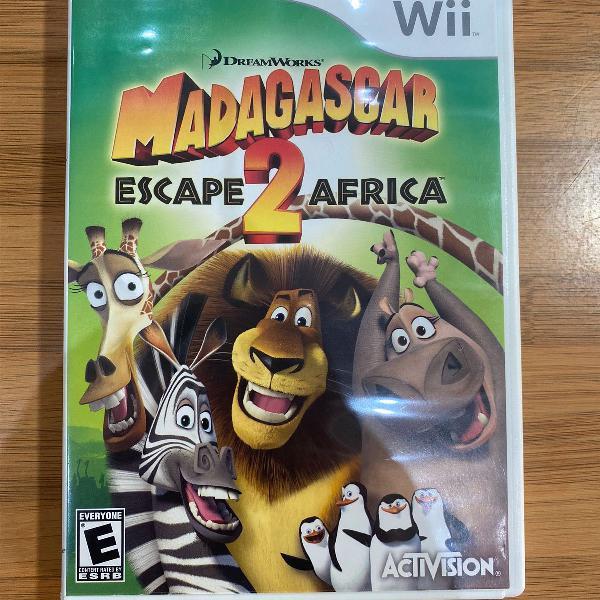 Jogo nintendo wii madagascar escape africa 2 americano