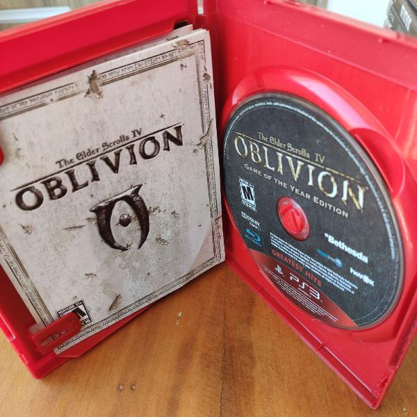 Jogos ps3 - the elder scrolls oblivion + skyrim