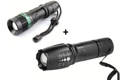 Lanterna led tática police + lanterna led t6 profissional