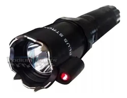 Lanterna tática led metal com laser infavermelho shock