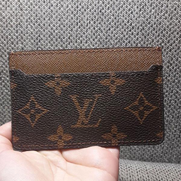 Porta cartão carteira slim louis vuitton masculina