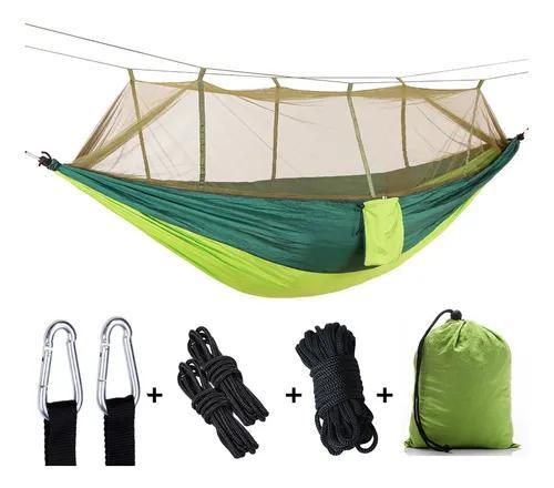 Rede de dormir casal com mosquiteiro descanso nylon camping