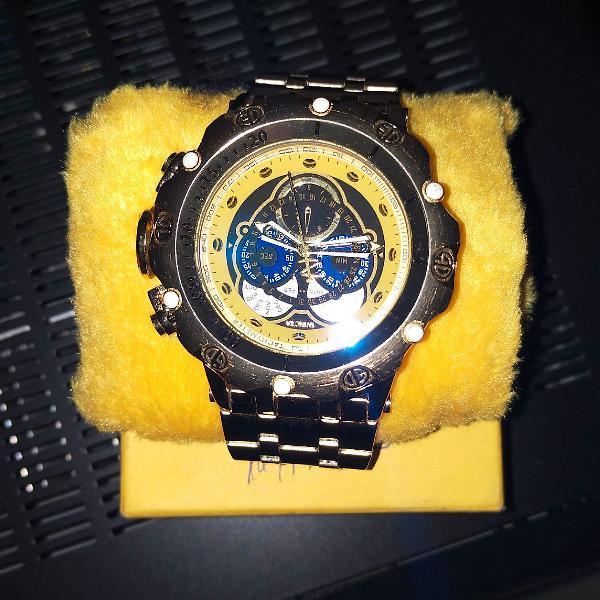 Relógio invicta lindo novo caixa manual aprova dágua
