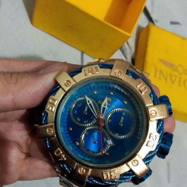 Relógio invicta dourado thunderbolt