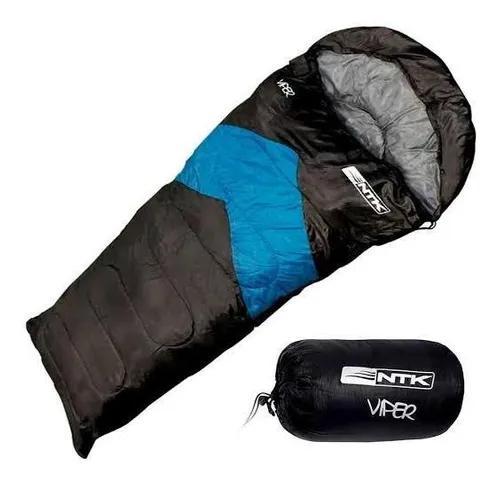Saco de dormir 2,10 x 0,75m viper pr/az 5ºc a 12ºc nautika