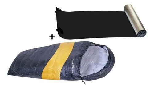 Saco de dormir térmico nautika viper lr + isolante térmico