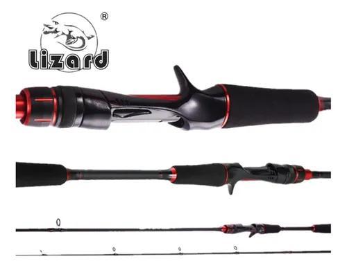 Vara carbono carretilha lizard 1,8 m 130g 9-30lb ação