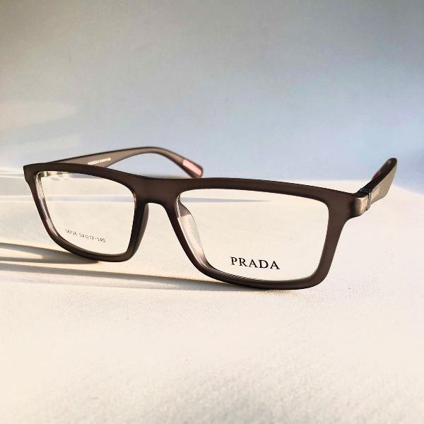 Armação para óculos de grau masculino prada cinza fosco