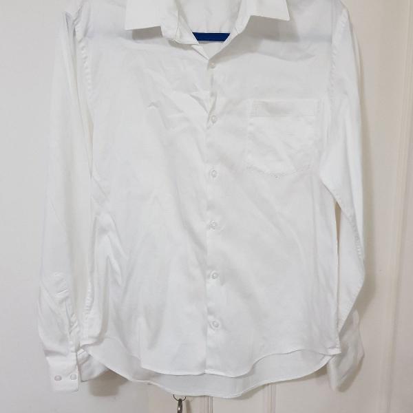 Camisa alfaiataria manga comprida 100%algodão tecido nobre