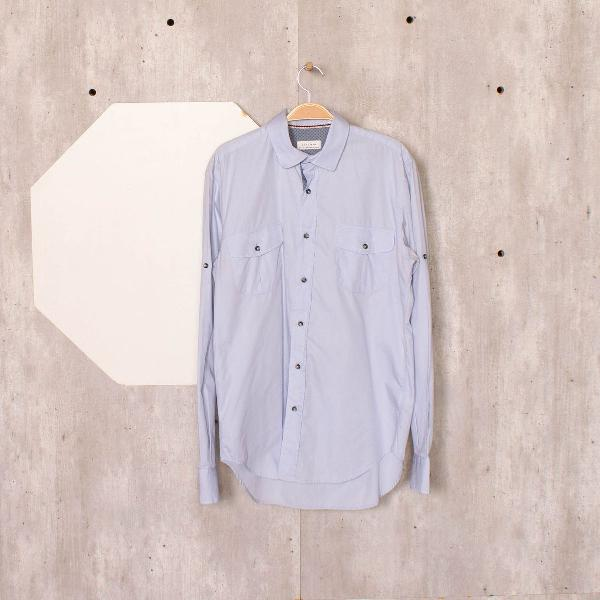 Camisa azul clara zara man