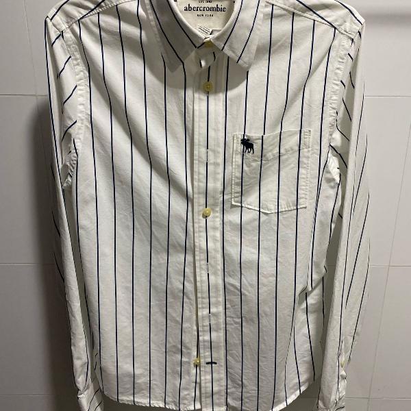 Camisa social listrada abercrombie