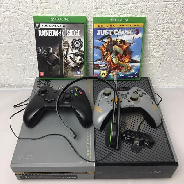 Console xbox one ed call of duty advanced warfare + 2 jogos