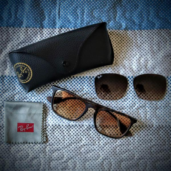 Culos escuros ray ban marron fosco original novo!