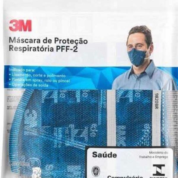 kit 2 máscara 3m pff2 com n95