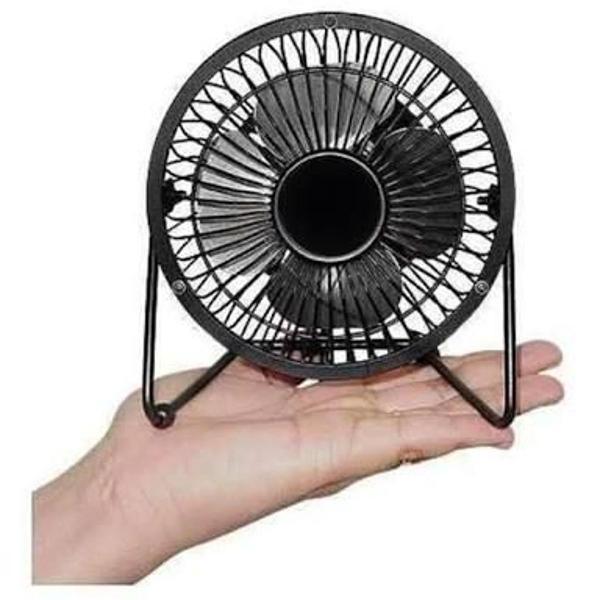 Mini ventilador de mesa usb preto