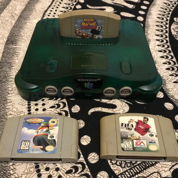 Nintendo 64 versão sabores com 3 jogos originais - n64