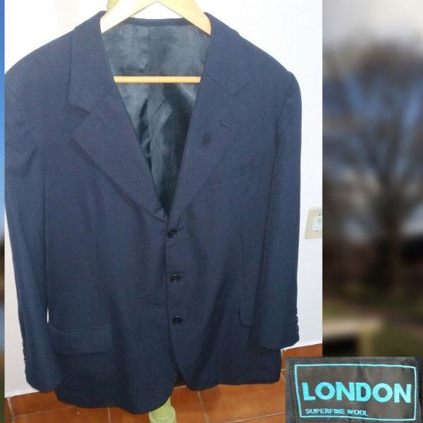Paletó azul marinho london superfine wool (cód32)