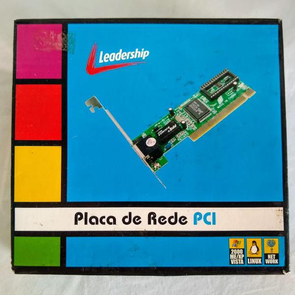 Placa rede pci lan ethernet leadership pc desktop 10/100