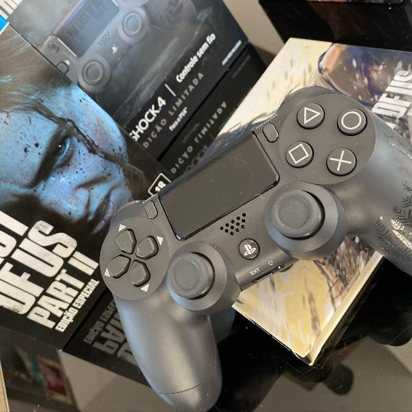 The last of us special edition + controle dualshock4