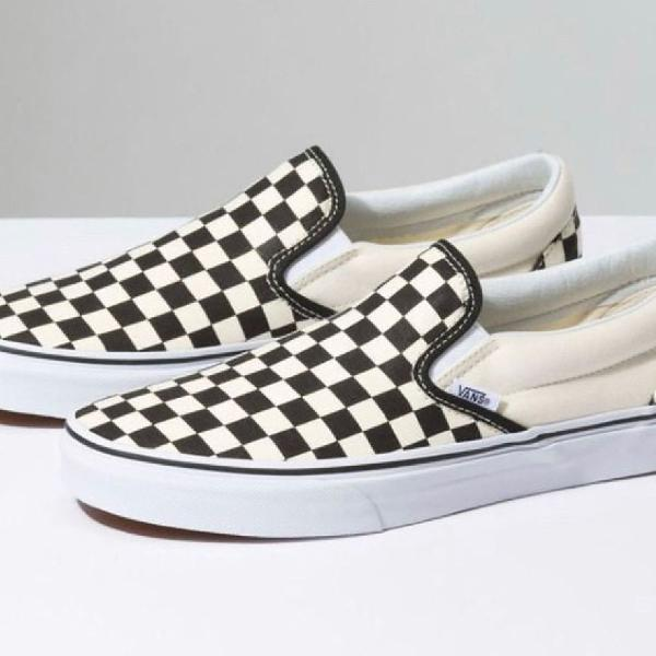 Tênis vans slip on quadriculado unissex