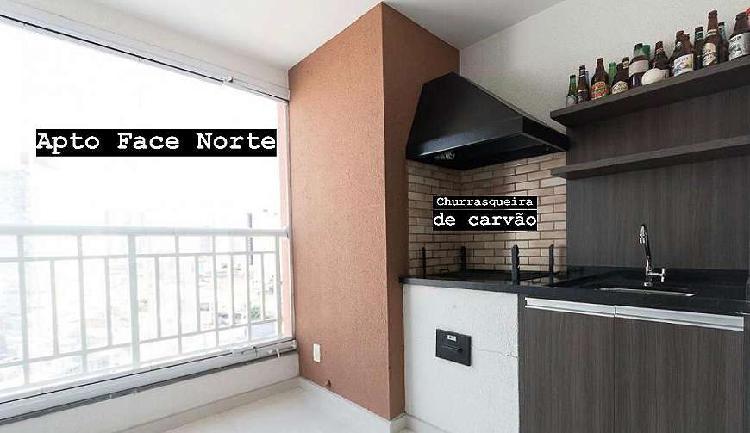 Apartamento 63 m2 com varanda gourmet e suíte a 700m do