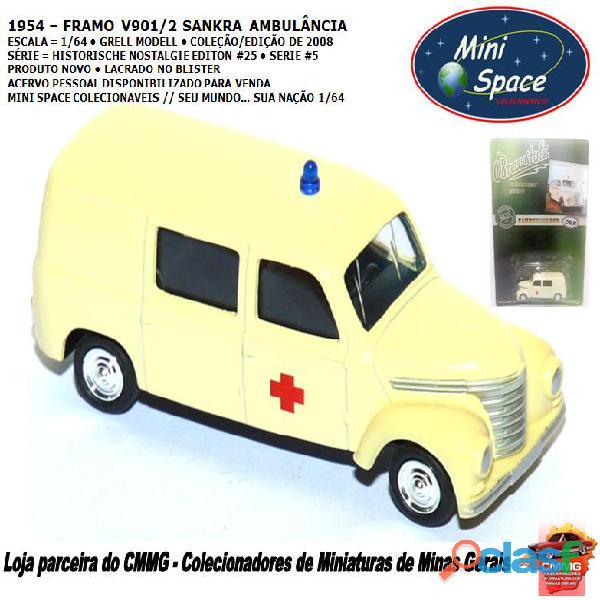 Grell modell 1954 framo v901/2 sankra – ambulância 1/64