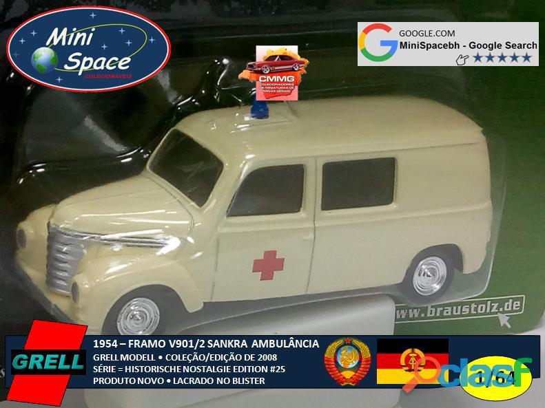 Grell Modell 1954 Framo V901/2 Sankra – Ambulância 1/64 6