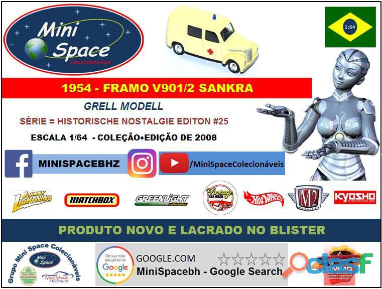 Grell Modell 1954 Framo V901/2 Sankra – Ambulância 1/64 8