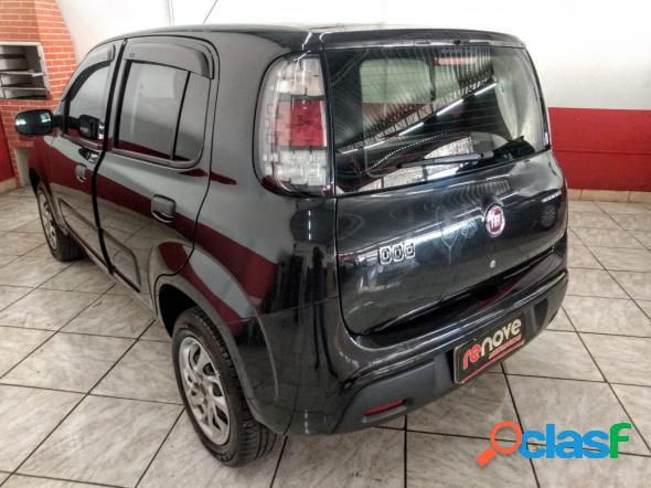 Fiat uno attractive 1.0 fire flex 8v 5p preto 2016 1.0 flex