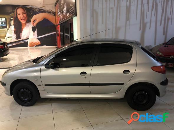 Peugeot 206 soleil 1.0 16v 5p cinza 2002 1.0 gasolina