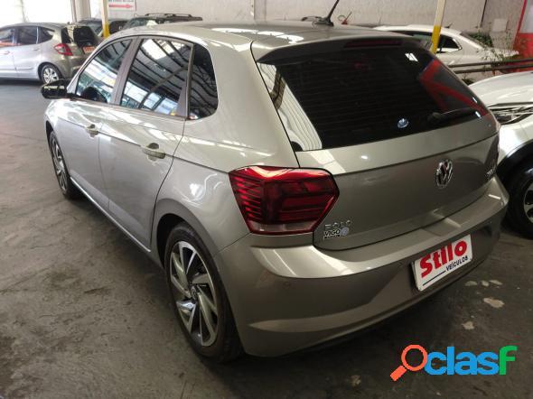 Volkswagen polo highline 200 tsi 1.0 flex 12v aut. prata 2019 1.0 flex