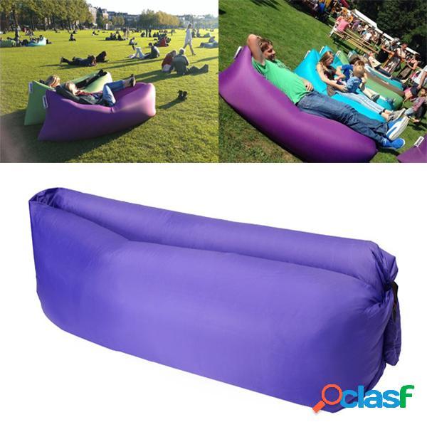 Viagem praia lazy sofa fast air inflável cama de dormir lounger camping lay bag recliner