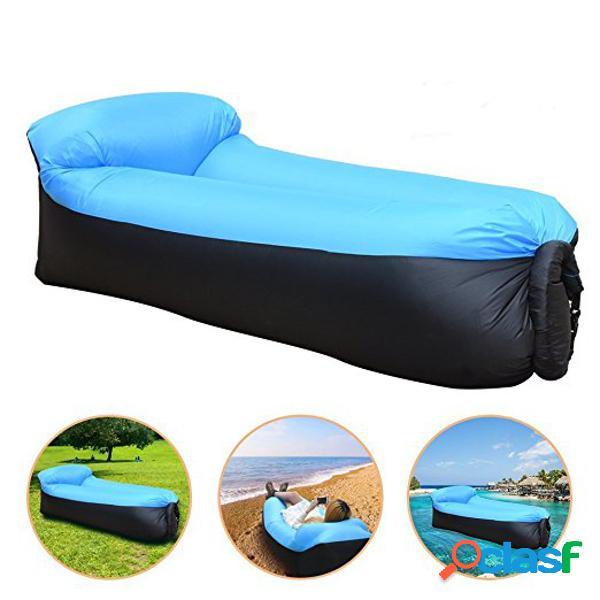 Upgraded version outdoor travel sofá preguiçoso sofá inflável fast air inflatable hammock